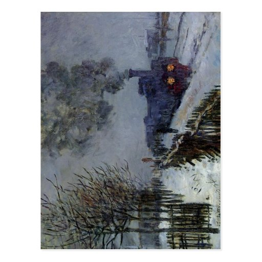 Claude Monet Train in the Snow 1875 Technique Oil  Post Cards