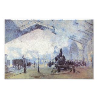 Claude Monet Train Station Photo Print