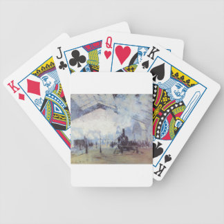 Claude Monet Train Station Popular Vintage Art Bicycle Playing Cards