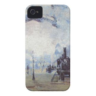 Claude Monet Train Station Popular Vintage Art Case-Mate iPhone 4 Cases