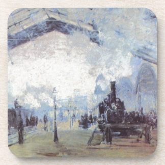 Claude Monet Train Station Popular Vintage Art Coaster