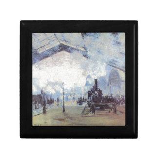Claude Monet Train Station Popular Vintage Art Gift Box