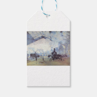 Claude Monet Train Station Popular Vintage Art Gift Tags