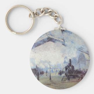 Claude Monet Train Station Popular Vintage Art Key Ring