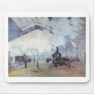 Claude Monet Train Station Popular Vintage Art Mouse Pad