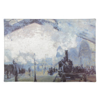 Claude Monet Train Station Popular Vintage Art Placemat