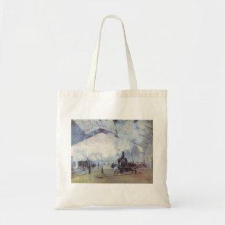 Claude Monet Train Station Popular Vintage Art Tote Bag