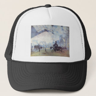 Claude Monet Train Station Popular Vintage Art Trucker Hat