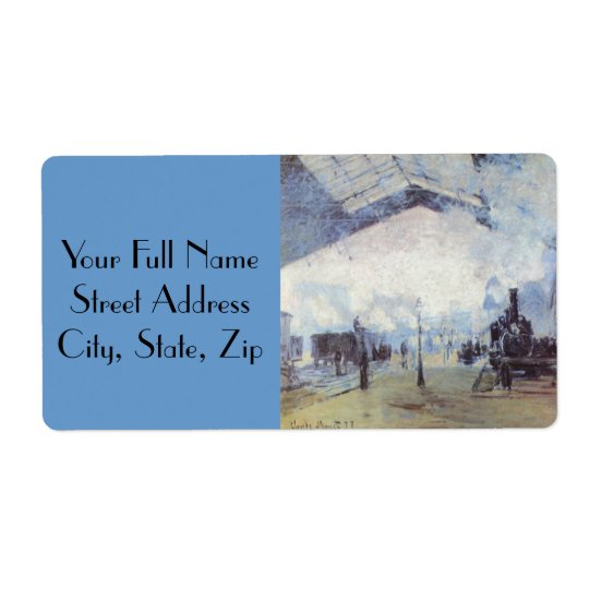 Claude Monet Train Station Shipping Label