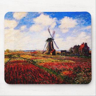 Claude Monet-Tulips Fields Mouse Pad