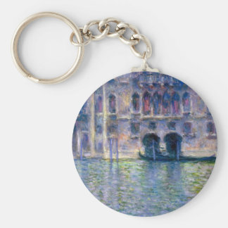 Claude Monet Venice Basic Round Button Key Ring