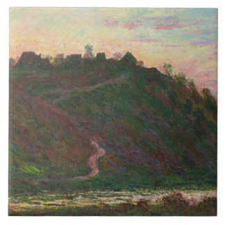 Claude Monet - Village of La Roche-Blond Large Square Tile
