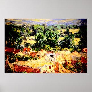 Claude Monet - Vue du village de Giverny Poster