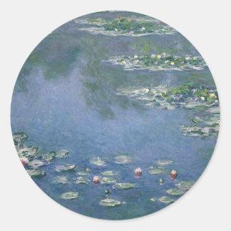 Claude Monet - Water Lilies - 1906 Ryerson Round Sticker