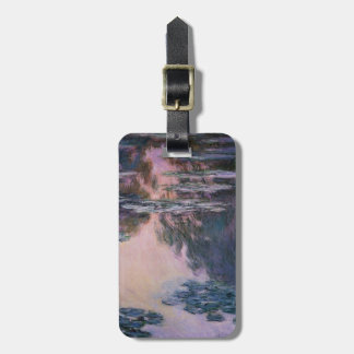 Claude Monet Water Lilies, 1907 GalleryHD Fine Art Luggage Tag