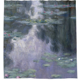 Claude Monet Water Lilies 1907 Nymphéas GalleryHD Shower Curtain