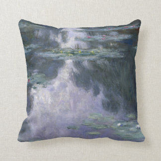 Claude Monet Water Lilies 1907 Nymphéas GalleryHD Throw Pillow