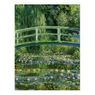 Claude Monet Water Lilies and Japanese Bridge Postcard