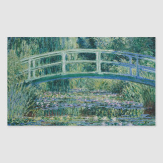 Claude Monet - Water Lilies and Japanese Bridge Rectangular Sticker