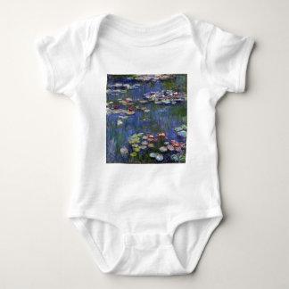 Claude Monet Water Lilies Baby Bodysuit