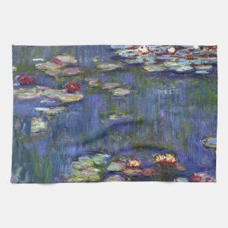 Claude Monet Water Lilies Hand Towel