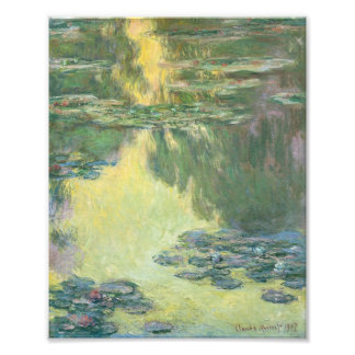 Claude Monet Water Lilies Impressionist Painting Photographic Print