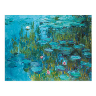 Claude Monet Water Lilies Nymphéas GalleryHD Postcard