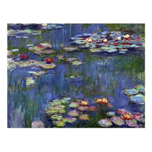 Claude Monet Water Lilies Post Cards