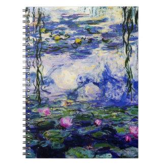Claude Monet-Water-Lilies Spiral Note Books