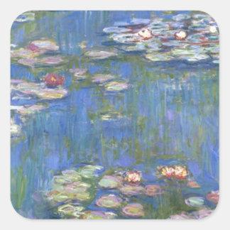 Claude Monet // Water Lilies Square Sticker