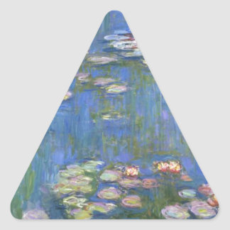 Claude Monet Water Lilies Triangle Stickers