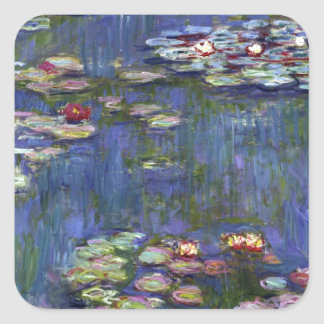 Claude Monet Water Lilies Square Sticker