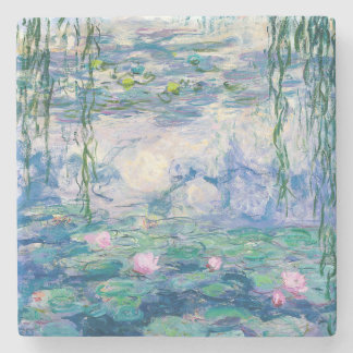 CLAUDE MONET - Water lilies Stone Coaster