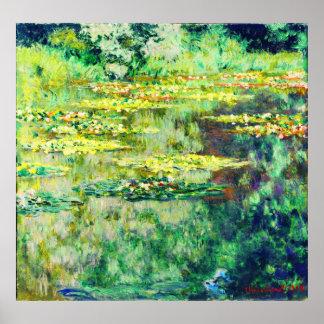 Claude Monet - Water Lillies - Bassin des Nympheas Poster