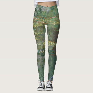 Claude Monet Water Lily Pond Fine Art GalleryHD Leggings