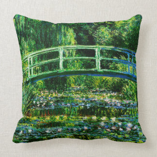 Claude Monet-Water-Lily Pond Throw Pillow