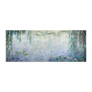 Claude Monet   Waterlilies Weeping Willows centre Canvas Print