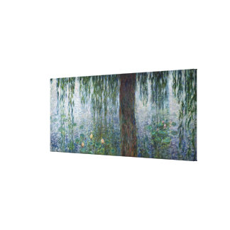 Claude Monet | Waterlilies Weeping Willows left Canvas Print