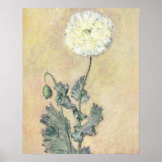 Claude Monet | White Poppy, 1883 Poster