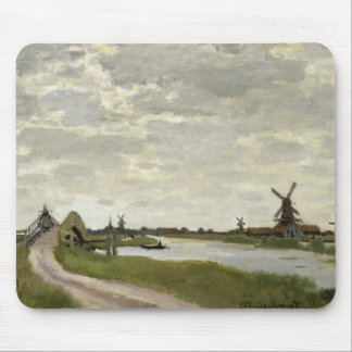 Claude Monet - Windmills Near Zaandam Mouse Pad