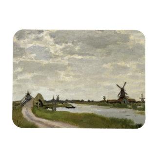 Claude Monet - Windmills Near Zaandam Rectangular Photo Magnet