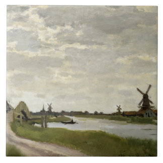 Claude Monet - Windmills Near Zaandam Tile