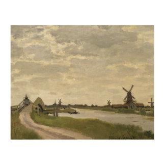 Claude Monet - Windmills Near Zaandam Wood Print