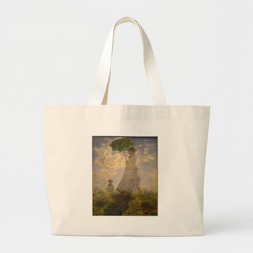 Claude Monet: Woman with a Parasol, 1875 Canvas Bag