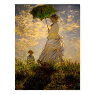 Claude Monet -Woman with a Parasol (1875) Postcard