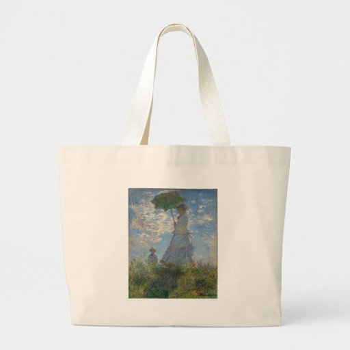 Claude Monet - Woman with a Parasol Canvas Bags