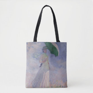 Claude Monet | Woman with a Parasol Turned Right Tote Bag