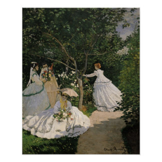 Claude Monet | Women in the Garden, 1866 Poster