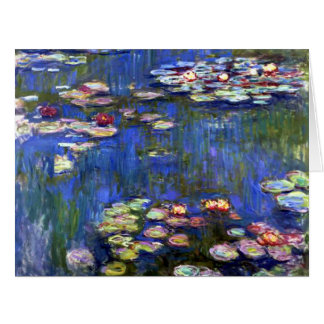 Claude Monet's Water Lilies Pond Big Greeting Cards