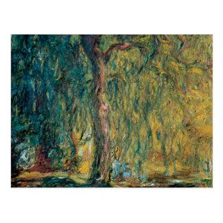 Claude Monet's Weeping Willow Postcard